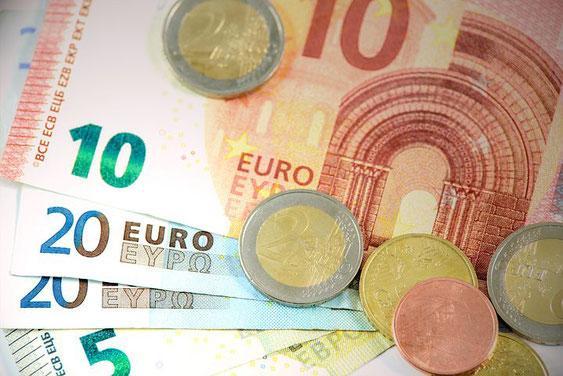Billets pieces euros