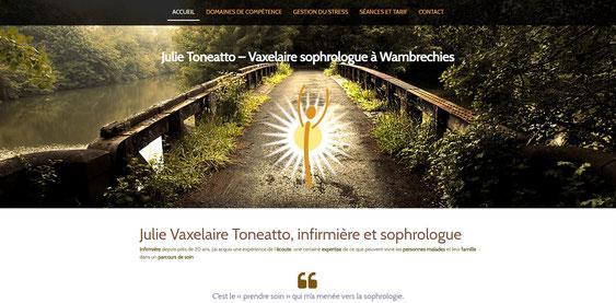 Page d accueil du site de julie toneatto vaxelaire sophrologue a wambrechies