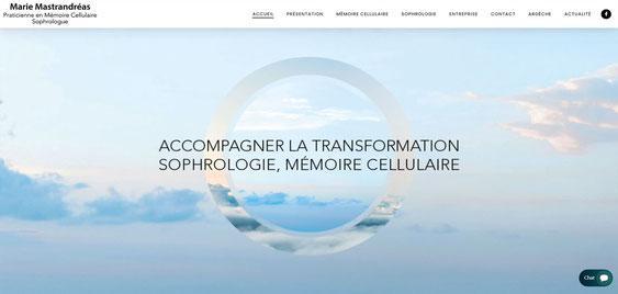 Page d accueil du site de marie mastrandreas sophrologue a boulogne billancourt
