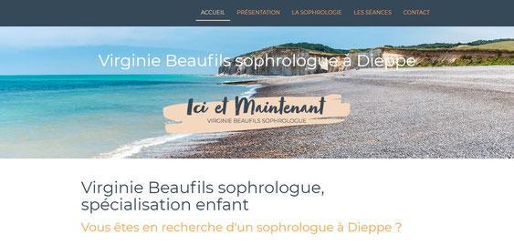 Page d accueil du site de virginie beaufils sophrologue a dieppe